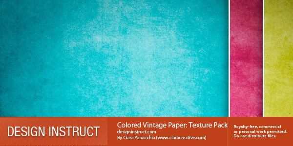 20 Colored Free Vintage Paper