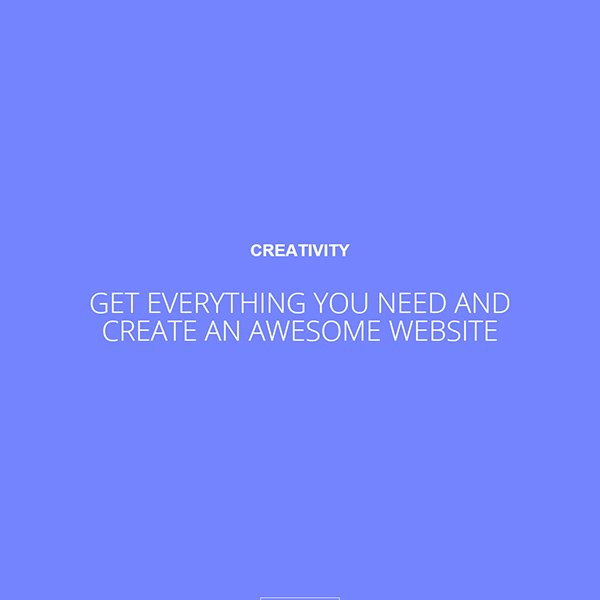 Creativity Portfolio Theme