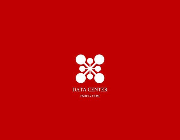 Data Logo Template PSD